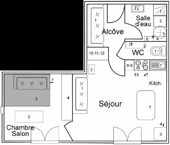 Plan de maison 2 pices plan maison gratuit en ligne creer for Plan appartement en ligne